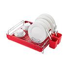 Посудосушитель настольный одноярусный 517х352х121 мм / LF-145 / хром, красный