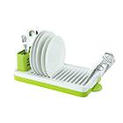 Посудосушитель настольный одноярусный 469х225х165 мм / LF-143 / хром, белый, зеленый