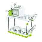 Посудосушитель настольный одноярусный 469х225х418 мм / LF-144 / хром, белый, зеленый